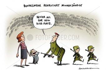 Bundeswehr rekrutiert Minderjaehrige