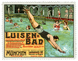 Luisenbad  Reklamemarke  1912