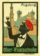 Oberrealschule Augsburg  Reklame  1913