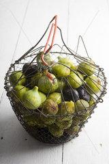 Fresh figs in basket