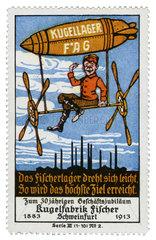 FAG Fischer Kugellagerfabrik  Reklamemarke  1913
