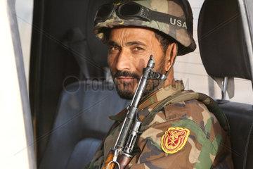 Feyzabad  Afghanistan  afghanischer Soldat