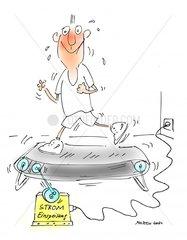 Laufband Stromgewinnung