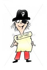 Schatzkarte Pirat