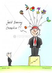 Kreativer Mitarbeiter