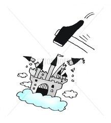 Luftschloss zerstoeren