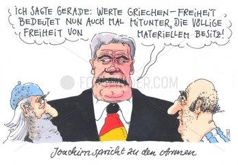 Bundespraesident Joachim Gauck in griechenland