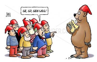 G8  G7  Geh weg