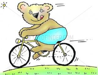Fahrradfahren Teddy