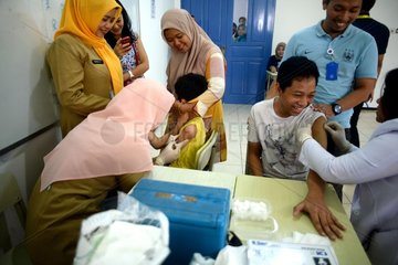 INDONESIA-SOUTH JAKARTA-MEASLES AND RUBELLA-IMMUNIZATION