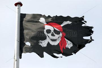 Insel Amrum  Norddorf  Deutschland  Piratenflagge