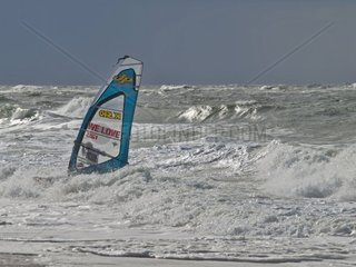 Andy quot Bubble quot Chambers UK windsurfing at Westerland  Schleswig Holstein  Germany