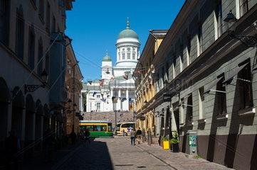 Helsinki  Finnland  Die Domkirche am Senatsplatz