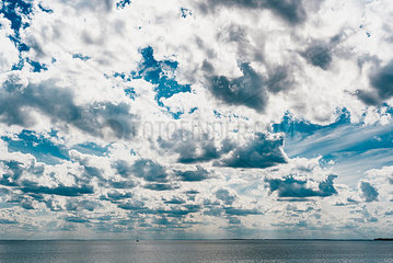 Germany  Ruegen  Baltic sea under cloudy sky
