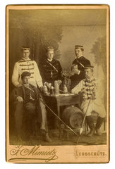 Studenten  schlagende Studentenverbindung  Leobschuetz  1895