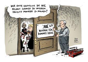 Altkanzler Schmidt G7-Sanktionen Russland dummes Zeug