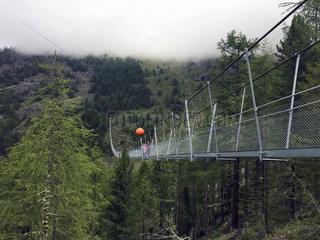 Suspension Bridge  Switzerland