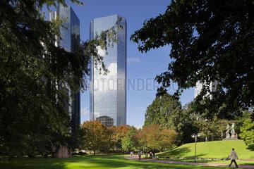 Frankfurt/Main  Deutschland  die Zentrale der Deutschen Bank an der Taunusanlage