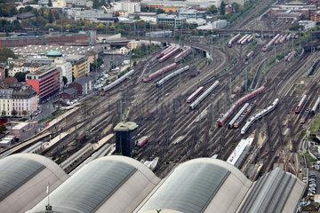 Frankfurt/Main  Deutschland  die Gleisanlagen des Hauptbahnhofs von Frankfurt