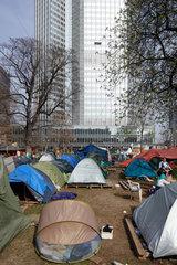 Frankfurt am Main  Deutschland  Occupy-Camp vor der Europaeischen Zentralbank