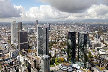 Frankfurt/Main  Deutschland  Panorama von Frankfurts Bankenviertel