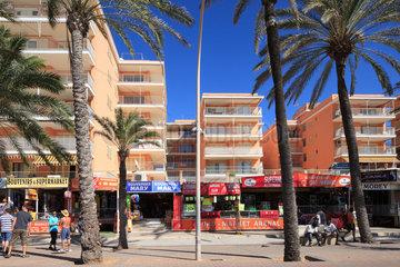 El Arenal  Spanien  Hotelgebaeude am Platja de Palma in El Arenal