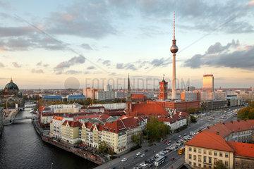 Berlin  Deutschland  Panorama von Berlin-Mitte