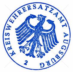 Stempel Kreiswehrersatzamt  1963