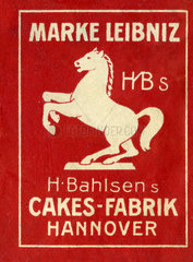 Werbung fuer Bahlsen-Kekse  Cakes  1910