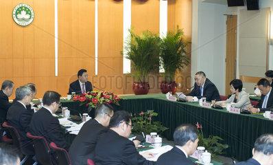 CHINA-MACAO-ZHANG DEJIANG-BRIEFING (CN)