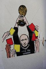 Putin als WM Gewinner in Rom