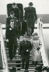 Michail Garbatschow und Ehefrau Raissa  Ankunft Genf  November 1985