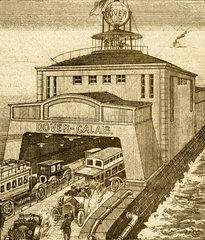 Zukunftsvision Kanaltunnel  1915