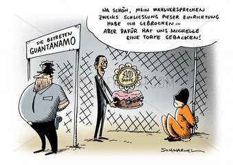 Zehn Jahre Guantanamo Versprechen Obama Schliessung