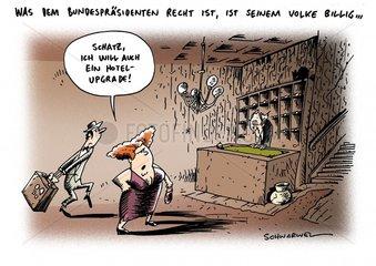 Wulff Ministerpraesident Filmproduzent Hotel-Upgrade Oktoberfest