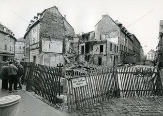 verfallene Altstadt in Weimar  DDR  Dezember 1989