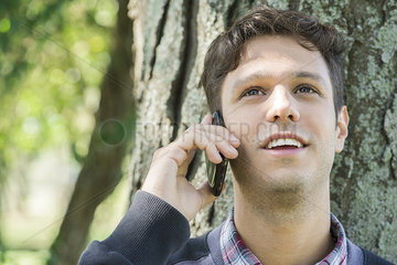Man chatting on cell phone