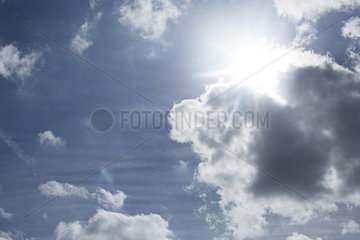 Sunny sky with clouds