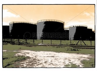 Oel Tanks Raffinerie Erdoel Umwelt Energie