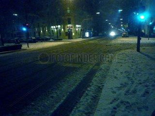 Strasse Schnee Winter Belgradstrasse Muenchen