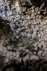 Lava tube cave  Lava Beds National Monument  California  USA