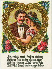 Liebespaar  Liebesgedicht  Illustration  1895