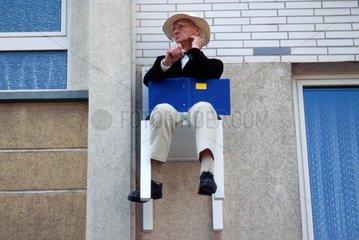 x-mal Mensch Stuhl