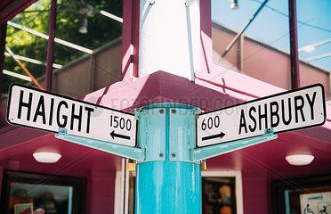 USA  San Francisco Haight and Ashbury streets intersection