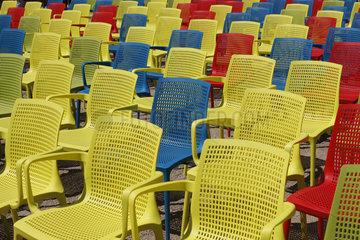 Blaue Rot und Gelb bei derBUGA 2015