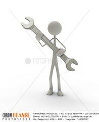 Figur mit Schraubenschluessel