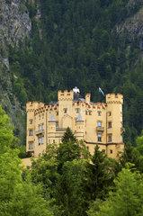Schloss Hohenschwangau  Allgaeu  Bayern Deutschland