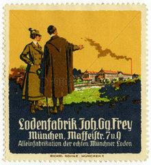 Loden Frey  Werbemarke  1912