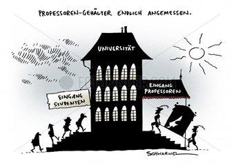 Hessen faellt moegliches Grundsatzurteil zu Professoren-Gehaeltern