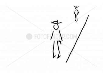 Zwei Cowboys bei Duell